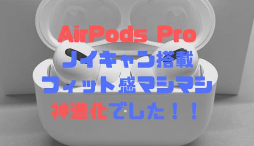 【AirPods Pro】ノイズキャンセル+フィット感マシマシの神進化!お出かけにさっと使える良いイヤホンだった